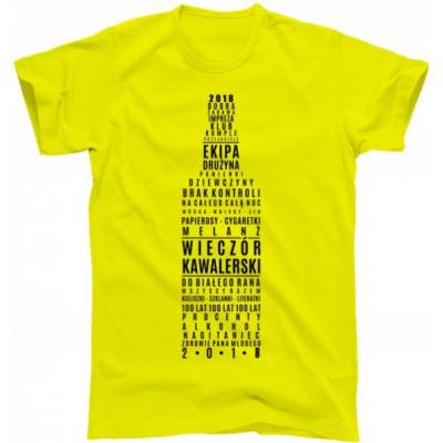 koszulka wieczór kawalerski ekipa drużyna
