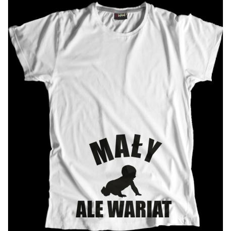 Koszulka Ciążowa Mały, ale Wariat