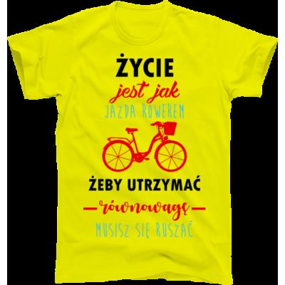 Koszulka rowerowa życie