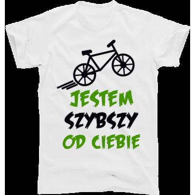 Koszulka rowerowa jestem szybki